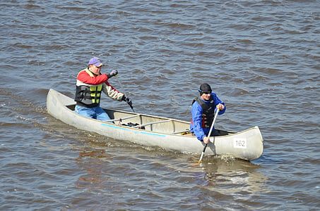 men, kayak, rafting, canoe, boat, adventure, water