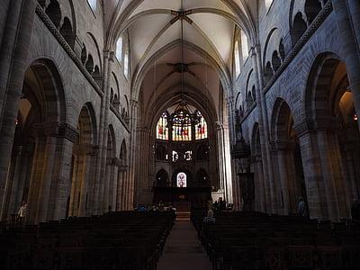 Bazelio katedrą, Miunsteris, Bazelio, bažnyčia, maldos namai, pagrindinis akcentas, Lankytinos vietos