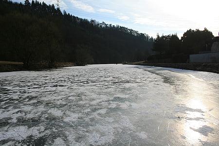 jää, talvel, jõgi, külmutatud, Skate, külm, Lahn