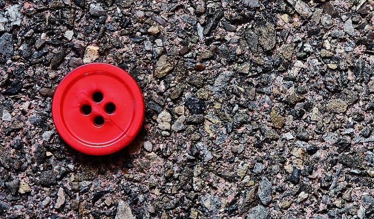 buttons, 4 holes, red, close, button, color, plastic