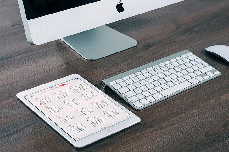 aplikace, Jablko, Kalendář, počítač, kalendářní data, psací stůl, Zobrazit