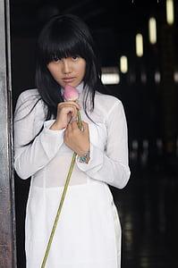 女孩, 越南, 穿衣服, 亚洲, 人, 女性, 生活方式