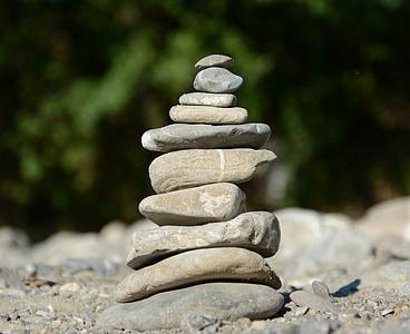 Balance, pierres, Pierre d'équilibre, tour de Pierre, pile, Zen, méditation
