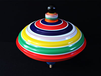 roundabout, movement, turn, colorful, color, tin toys, humming top