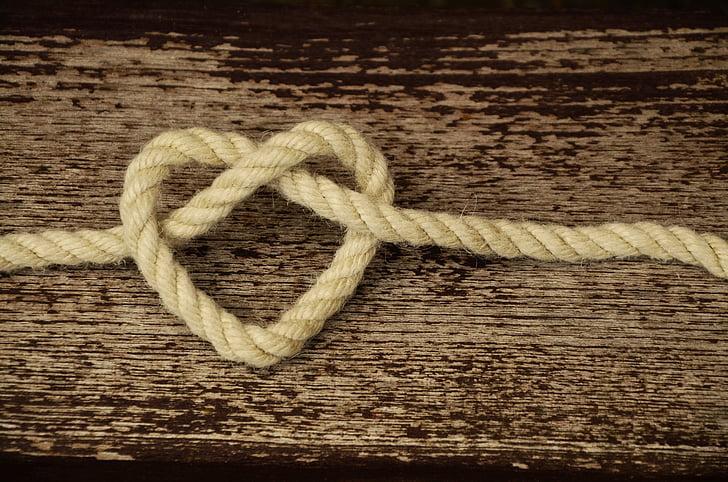 Канат, шнур, сердце, любовь, Дружба, связность, лояльность