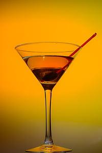 klaas, Martini, kokteil, kokteil klaasi, kiirrong, jook, alkoholi