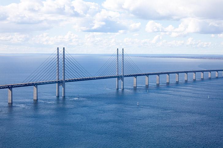 สะพาน öresund, มัลโม, bro, ภาพถ่ายทางอากาศ, โคเปนเฮเกน