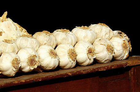 tỏi, mùi, Địa Trung Hải, thực phẩm, trắng, thực vật, nhà bếp