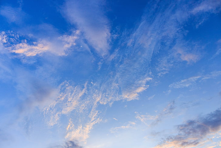 ท้องฟ้า, ระบบคลาวด์, สูง, สีฟ้า, ท้องฟ้ามีเมฆเป็นบางส่วน, ท้องฟ้าเมฆ, ธรรมชาติ