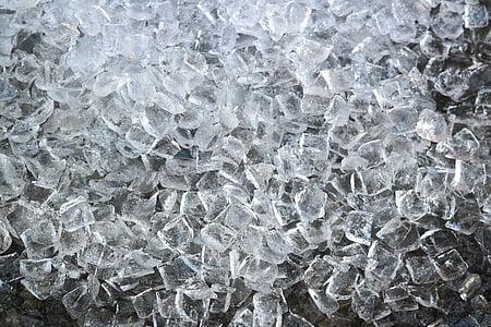 glaçons de gel, gel, congelat, transparents, fondre, gel fred, fred