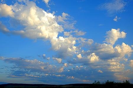 เมฆ, มีเมฆปกคลุม, ท้องฟ้า, คราม, พายุฝนฟ้าคะนอง, ลัสเมฆ, อารมณ์