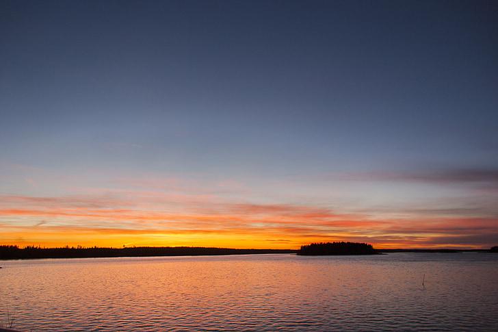 το βράδυ, ηλιοβασίλεμα, καλοκαιρινό βράδυ, στη θάλασσα