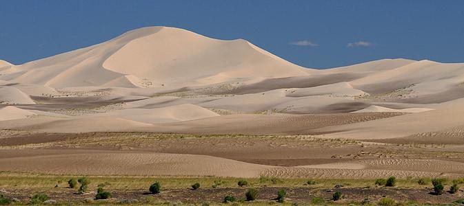 Mongolsko, Gobi, horká, Duna, poušť, pouštní krajina, Příroda