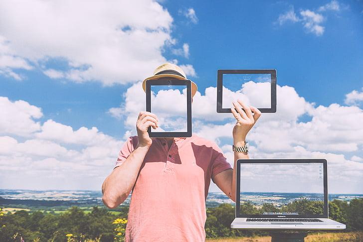 anonimni, računalnik, naprave, identitete, iPad, prenosni računalnik, MacBook