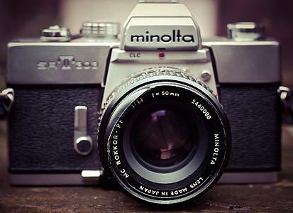 càmera de fotos, càmera, Minolta, fotografia, vell, nostàlgia, anyada