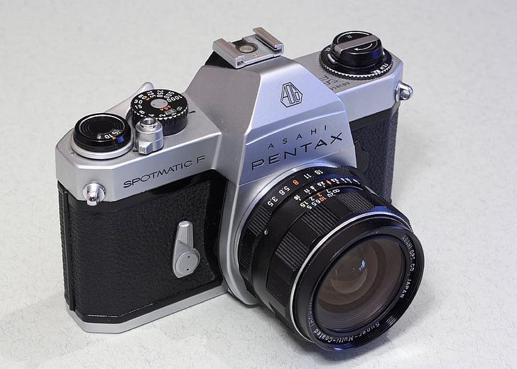 อาซาฮี, pentax, spotmatic, spotmatic f, กล้อง, 35 มม., ฟิล์ม