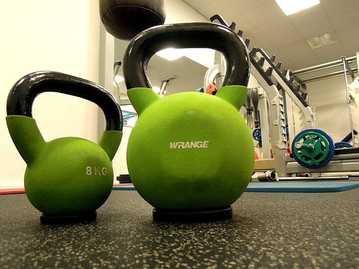 svars, kettlebell, sporta, fitnesa, sporta, svars, apmācības