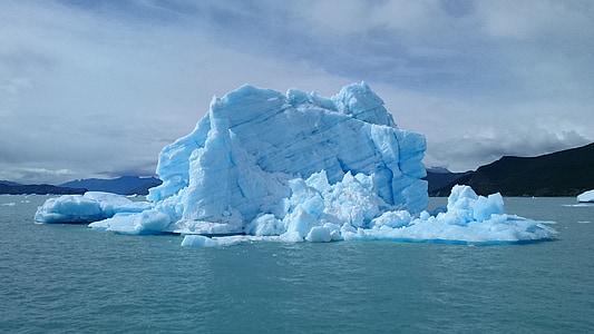 ice, lake, boat, iceberg, winter, iceberg - Ice Formation, antarctica