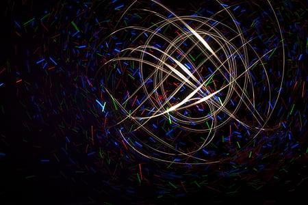 lys farge, LED lys, abstrakt, bakgrunn, lys maleri, bakgrunner, flerfargede
