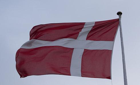 dannebrog, flag, denmark, danish, danish flag, red, sky