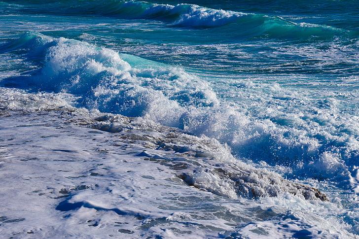 hullámok, Lenyûgözõ, látványos, tenger, természet, Splash, Smash