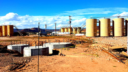 refinery, industry, oil rig, gas, fuel, outdoors, construction
