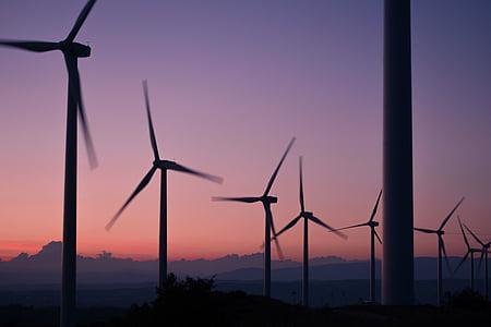 Molins de vent, energia, alternativa, vent, medi ambient, poder, energia verda