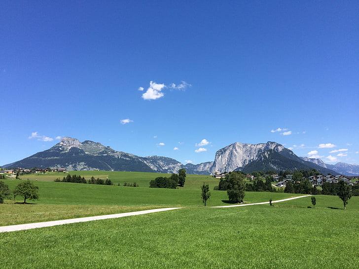 altiplà, paisatge de muntanya, Àustria, elsee bàsic, muntanyes, Previsió, muntanya