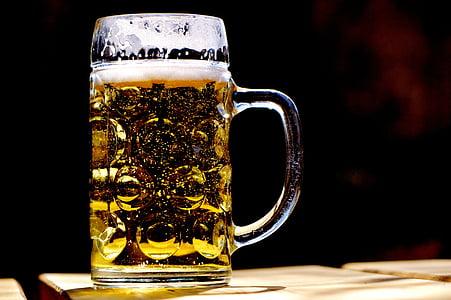 bier, Mok, verfrissing, Bierpul, drankje, Beieren, biertuin