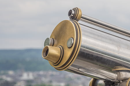 telescope, view, binoculars, distant, distant view, outlook, viewpoint