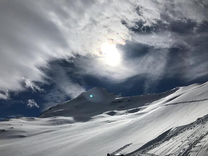 mùa đông, wintry, đám mây