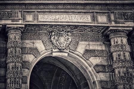 Louvre, muuseum, Pariis, Prantsusmaa, arhitektuur, hoone, näitus