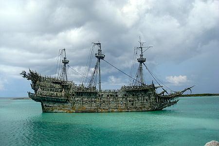pirate, disney, black pearl, caribbean, sea, nautical Vessel, sailing Ship