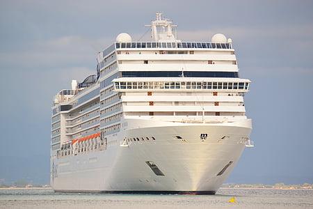 kryssningsfartyg, båt, segling, resor, havet, Ocean, semester