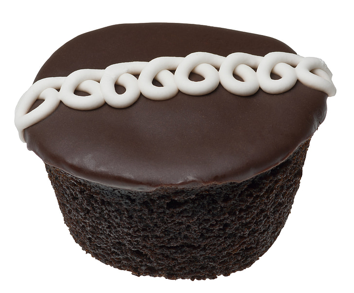 cupcake, hostess, icing, squiggle, frosted, chocolate, snack