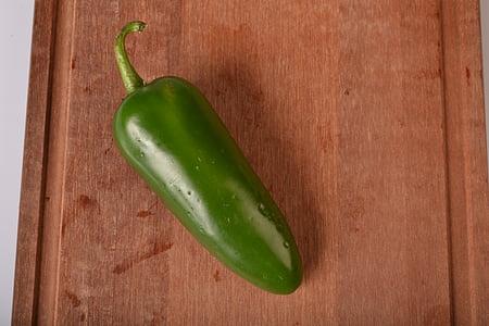 智利, 墨西哥胡椒, 辣椒, 辣椒, 蔬菜, 香辣, 绿色