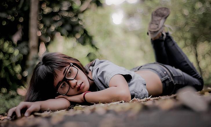 Dziewczyna, kobiety, modelu, Indonezyjski, lasu