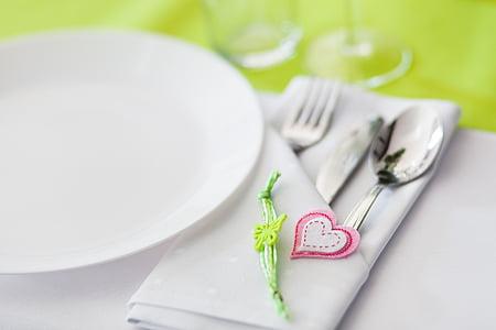 Arts de la table, couvrant, coutellerie, événement, table à manger, la cérémonie, manger