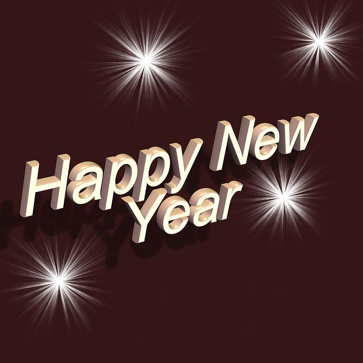 tipus de lletra, Retolació, feliç any nou, any nou, canvi d'any, cap d any, nou començament