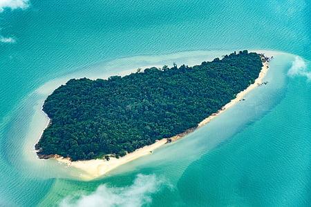 sziget, trópusi, trópusi sziget, Beach, óceán, tenger, utazás