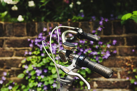 beautiful, bell, bicycle, bike, brake levers, close-up, color