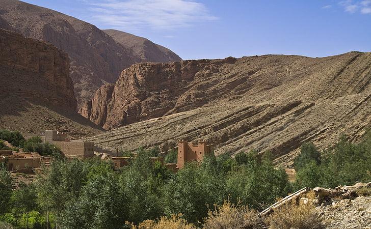 gorges du dades, dades congost, Marroc, paisatge, alta muntanya, altiplà