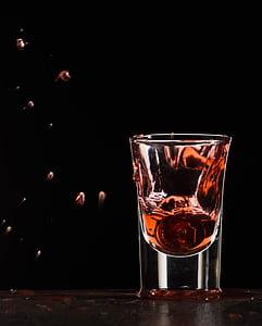 vas, esquitxades, vidre, beguda, líquid, gota, esquitxades