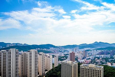 dalian, china, a bird's eye view, china cities, the scenery, cityscape, urban Skyline