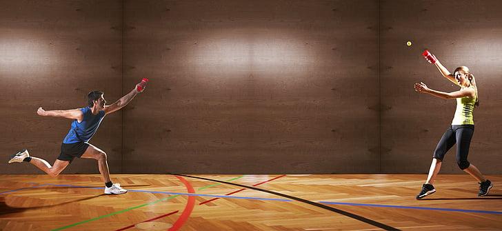 Sports, vīrietis, sieviete, divkauja, FunSport, komandu sporta veids, speedello