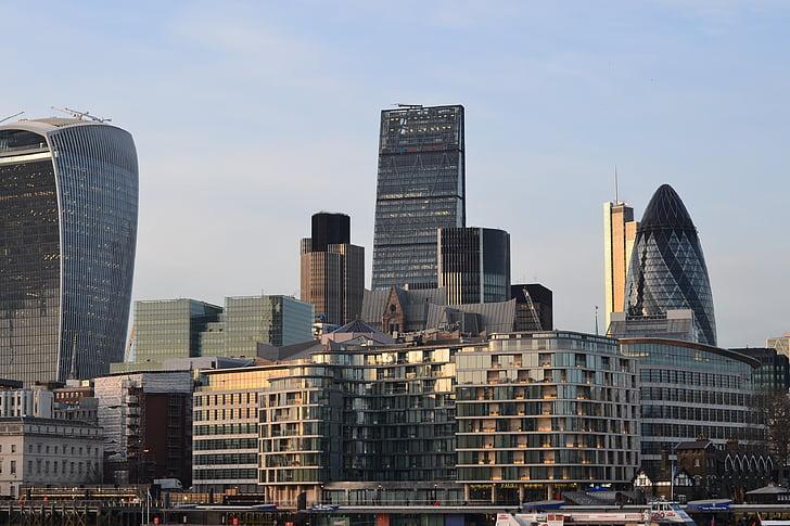 Λονδίνο, πόλη, κτίριο, abendstimmung, ουρανός, Ήλιος, Αγγλία