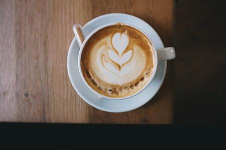 minuman, kafein, cappuccino, kopi, minum kopi, krim, Piala