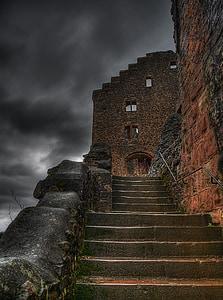 Замок, руїни, величезні, введення, притягнення туриста, Лицарський замок, Визначні пам'ятки