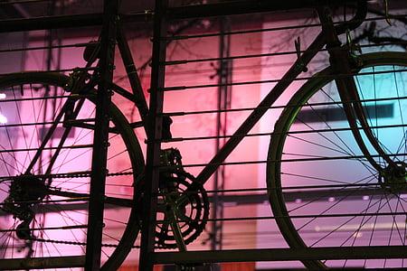 bicikl, ceste, noć, promet, bicikliste, bicikala, kolo
