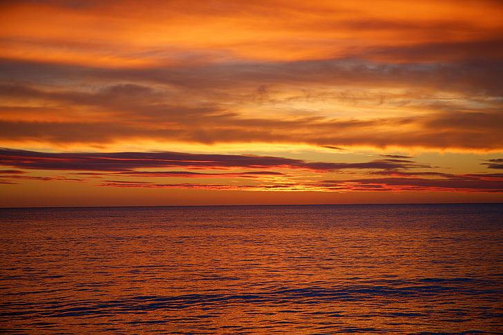 vrstva, slnko, západ slnka, Príroda západ slnka, Príroda, Sky, Cloud